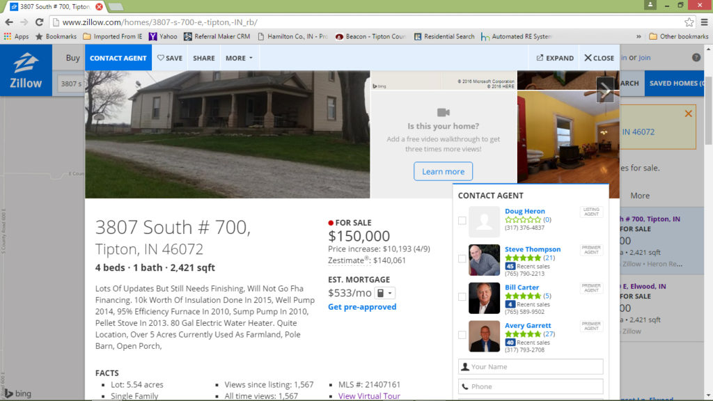 zillow screen shot